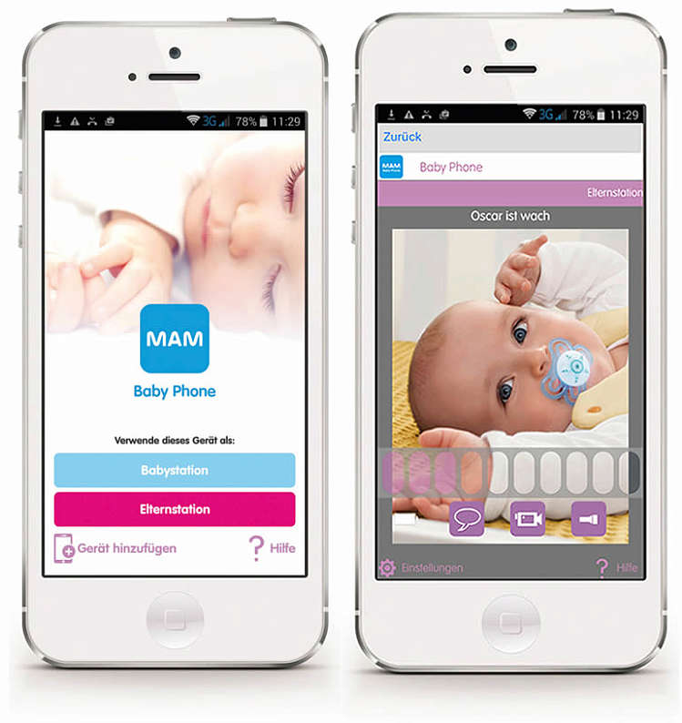 Picture of the MAM Babyphone app
