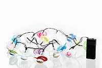 Upcycling idea String of lights made from soothers