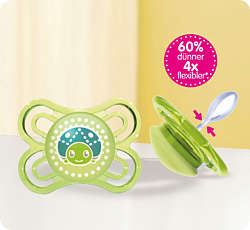 Green MAM Perfect soother with ladybird design