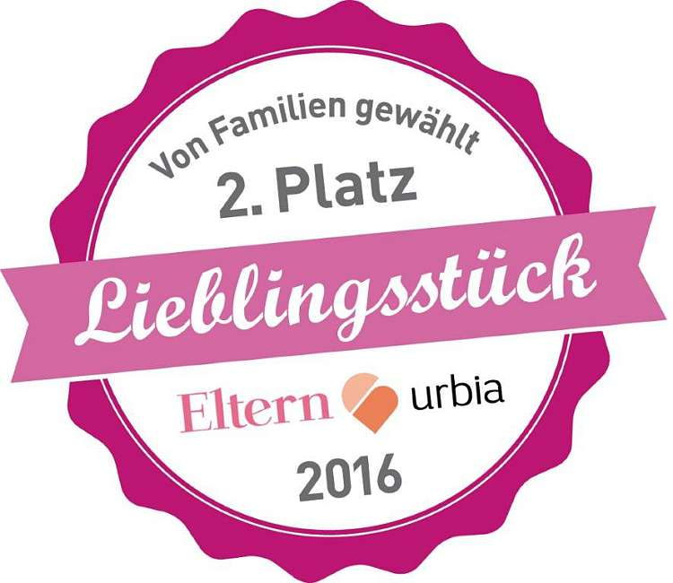 "Second place in the Eltern & urbia ""Favourite item"" awards 2016"